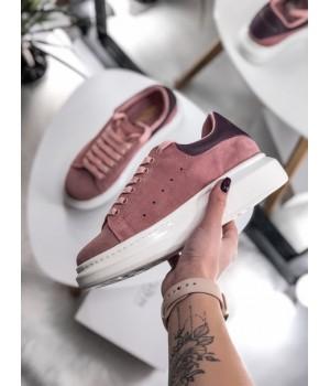 Кроссовки Alexander McQueen Pink Velvet