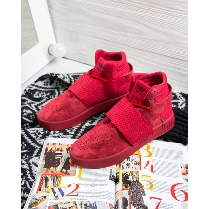 Кроссовки женские Adidas Tubular Invader Strap Red