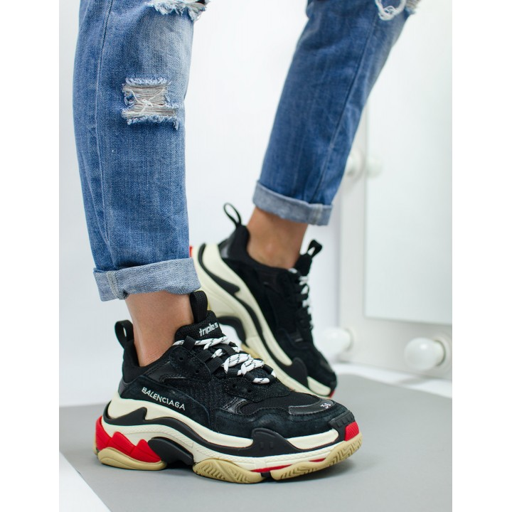 "Кроссовки Balenciaga Triple-S ""Black/White/Red"""