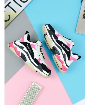 "Кроссовки Balenciaga Triple-S ""Black/White/Pink"""