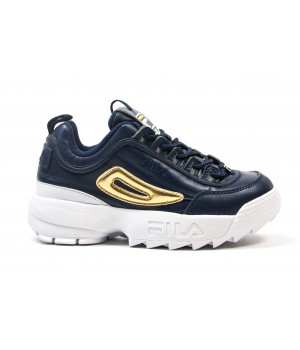 "Кроссовки Fila Disruptor II ""Navy/Gold"""