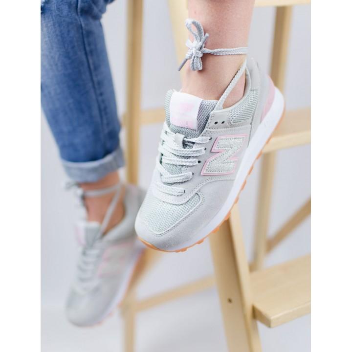 Кроссовки женские New Balance 574 Grey/Pink