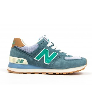 Кроссовки New Balance 574 mint/blue