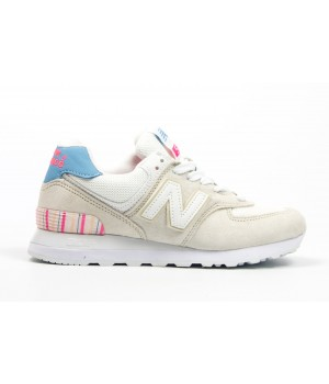 Кроссовки New Balance 574 beige/blue/pink