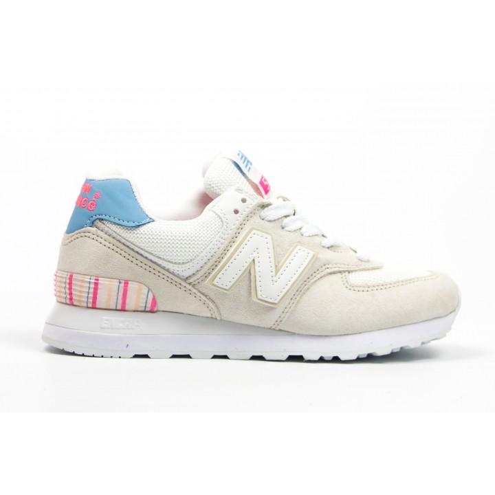 Кроссовки New Balance 574 beige/blue/pink