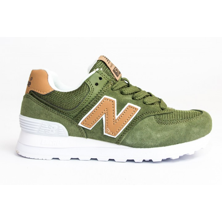 Кроссовки New Balance 574 green/orange