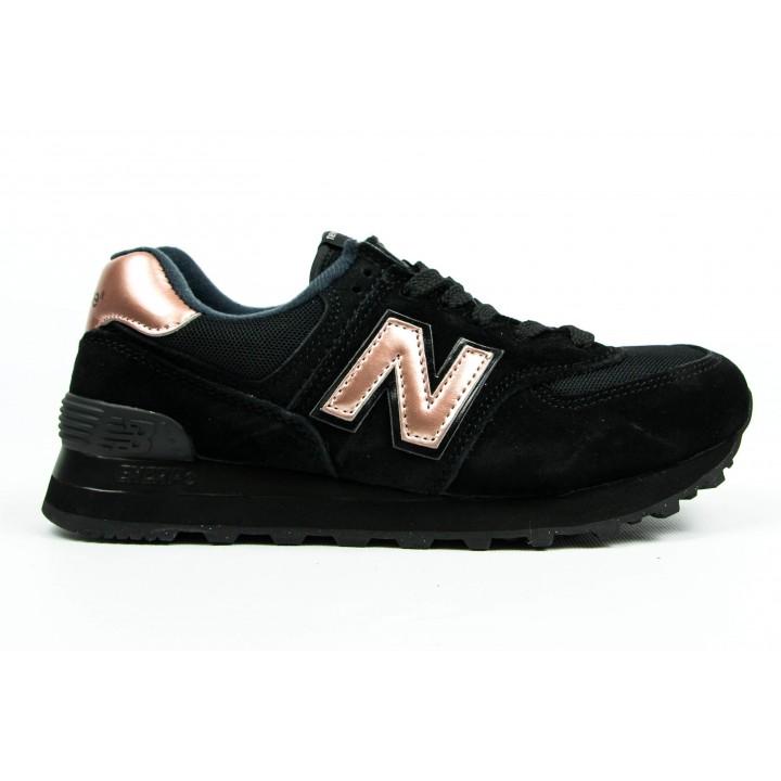 Кроссовки New Balance 574 black/bronze