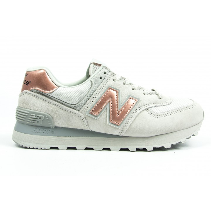 Кроссовки New Balance 574 light grey/bronze