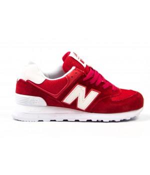 Кроссовки New Balance 574 red/white
