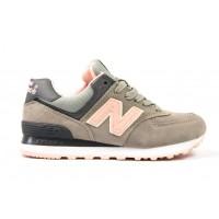 Кроссовки New Balance 574 grey/peach