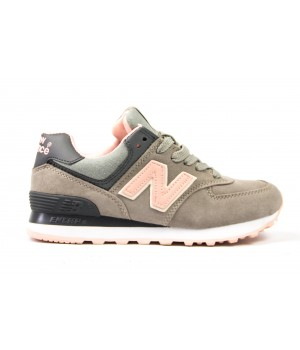 Кроссовки New Balance 574 grey/peach