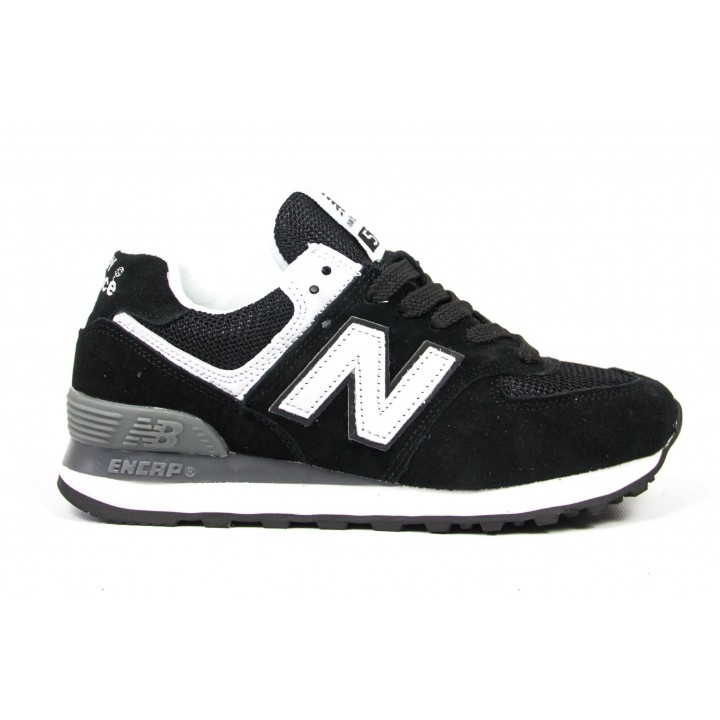 Кроссовки New Balance 574 black/white/grey