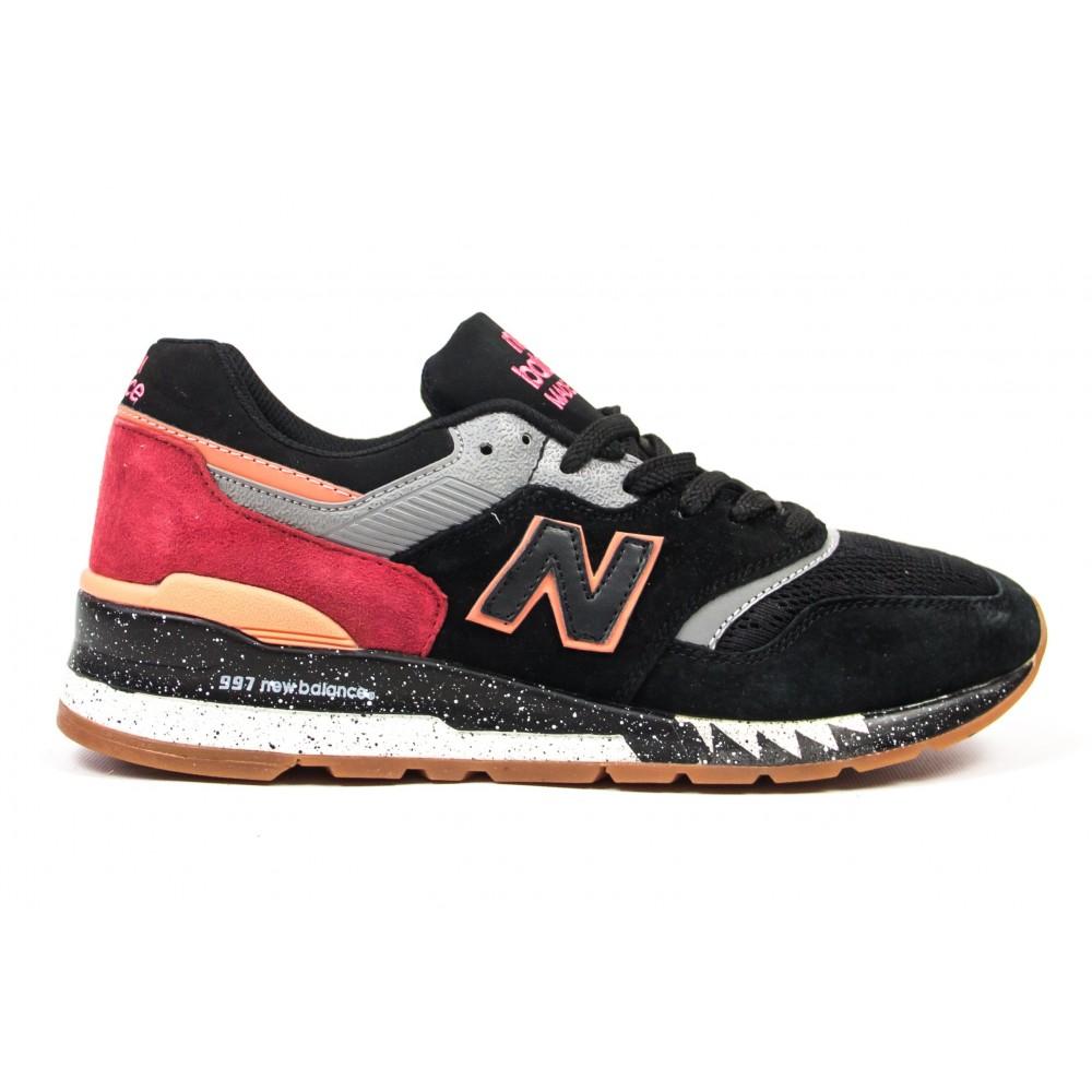 Кроссовки New Balance 997 black red grey NВ132 от бренда New Balance ... b382fe9abc03d