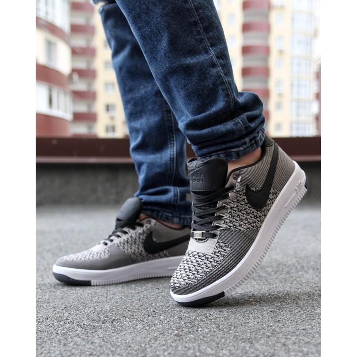 Мужские кроссовки Nike Air Force  Gray/Back