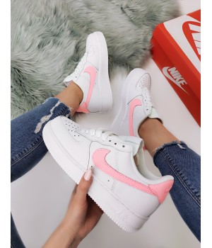 Кроссовки  Nike Air Force White Pink