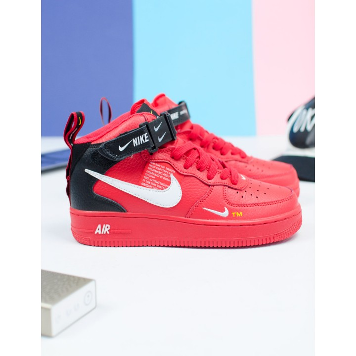 Женские кроссовки Nike Air Force 1 07 Mid LV8 Red