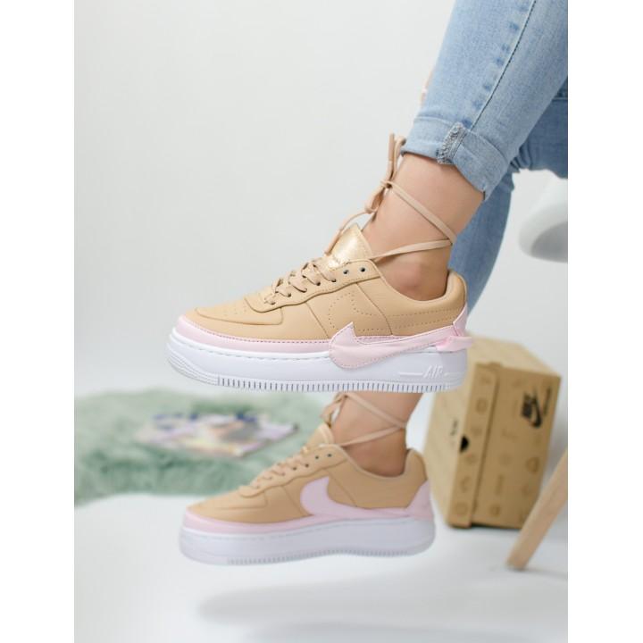 Кроссовки женские Nike Air Force Beige