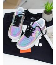 Кроссовки Nike Air Force Violet Светоотражающие