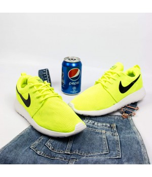Кроссовки Nike Roshe Run Neon Yellow