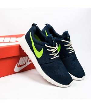 Кроссовки  Nike Roshe Run Blue Neon