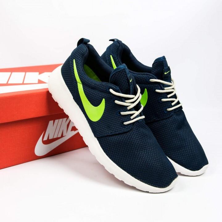 Кроссовки  Nike Roshe Run Blue Neon