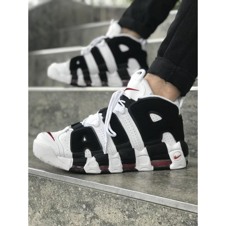 Мужские кроссовки Nike AIR MORE UPTEMPO Black/White