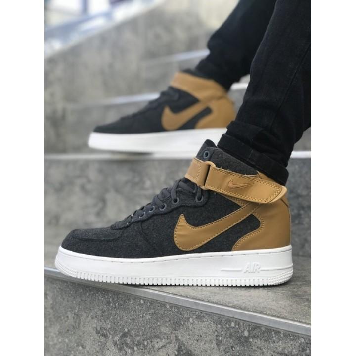 Мужские кроссовки Nike Air Force Grey/Beige