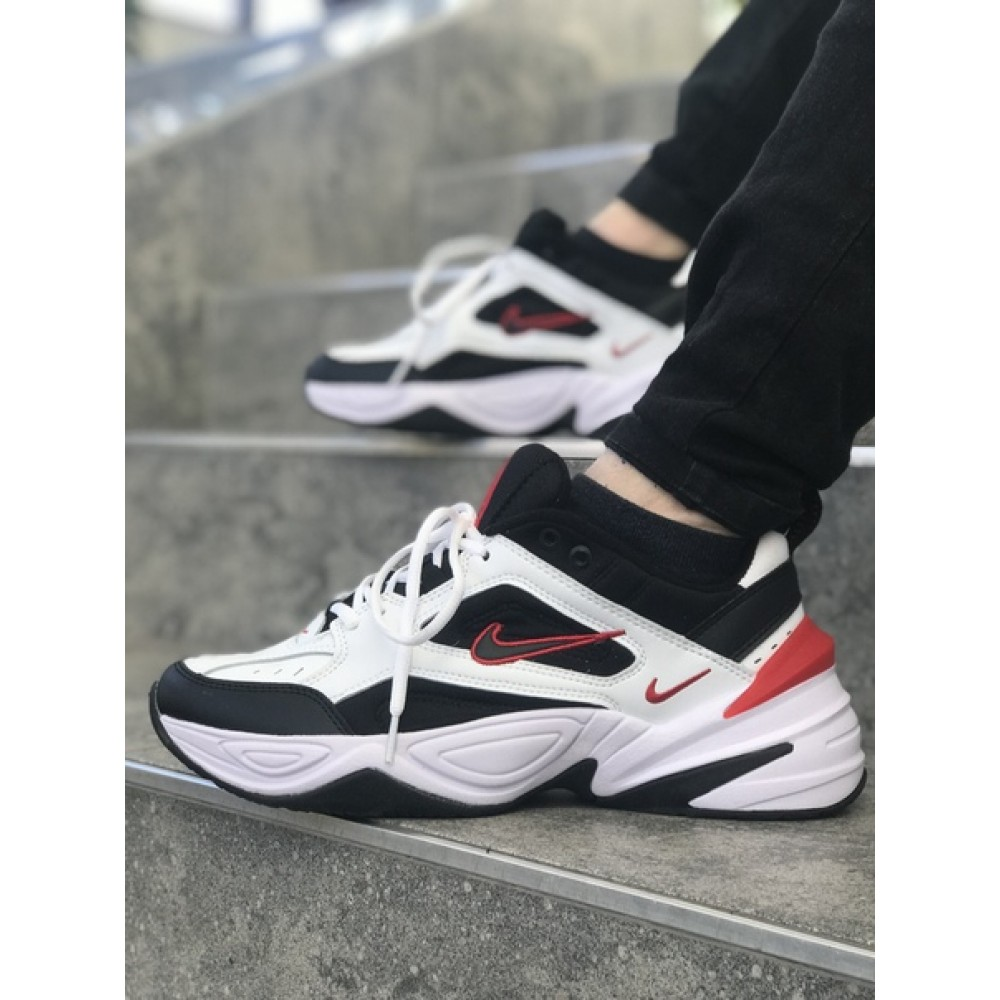 ab394240 Мужские кроссовки Nike M2K Tekno Black/White/Red 1090 от бренда Nike ...