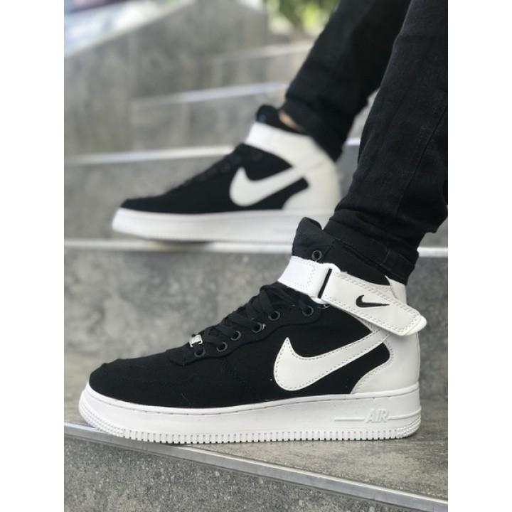Мужские кроссовки Nike Air Force Black/White