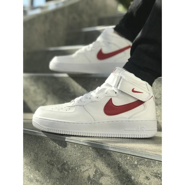 Мужские кроссовки Nike Air Force White/Red