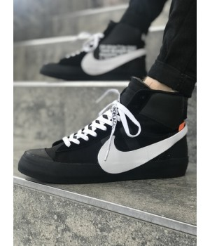 Мужские кроссовки Nike Blazer Mid Black/White