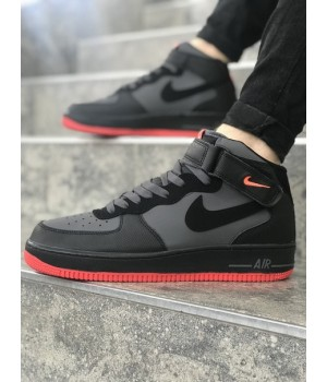 Мужские кроссовки Nike Air Force Grey/Black/White