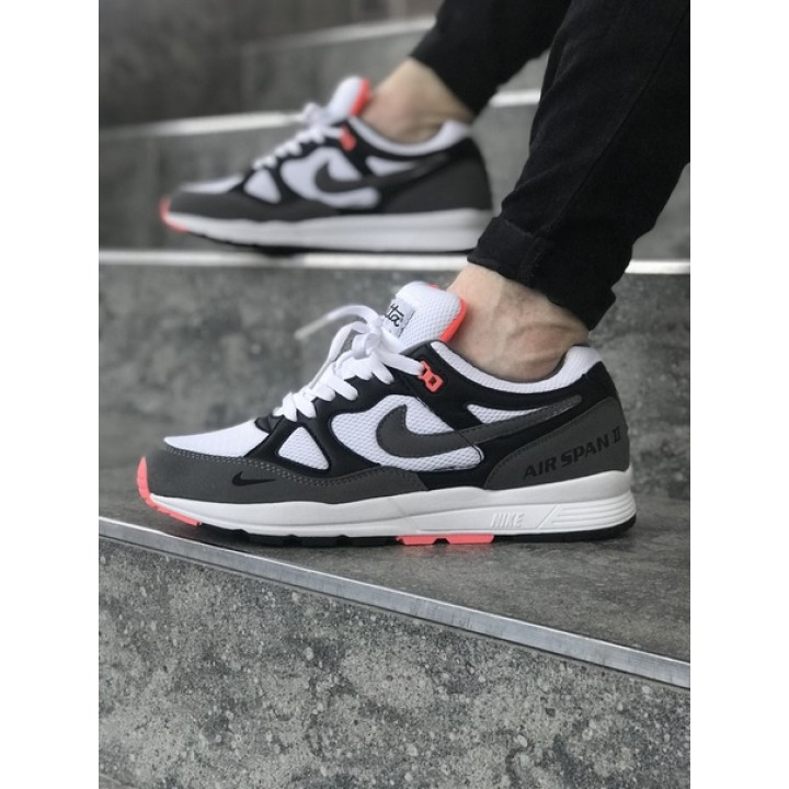 Мужские кроссовки Nike Air Span II Grey/White/Orange