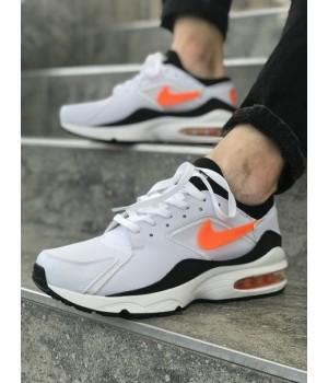 Мужские кроссовки Nike Air Max 93 White/Orange/Black