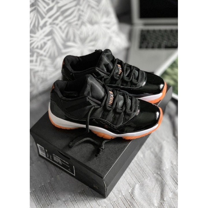 Мужские кроссовки Nike Air Jordan 11 Retro Low (GG) (Black / Bleached Coral — White)