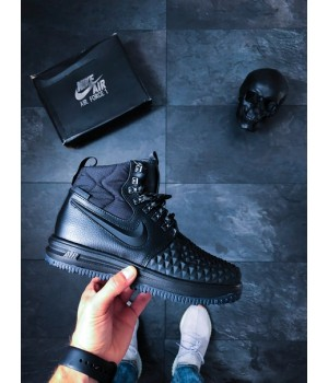 Мужские кроссовки Nike Lunar Force 1 Duckboot '17 Black/ Black-Anthracite