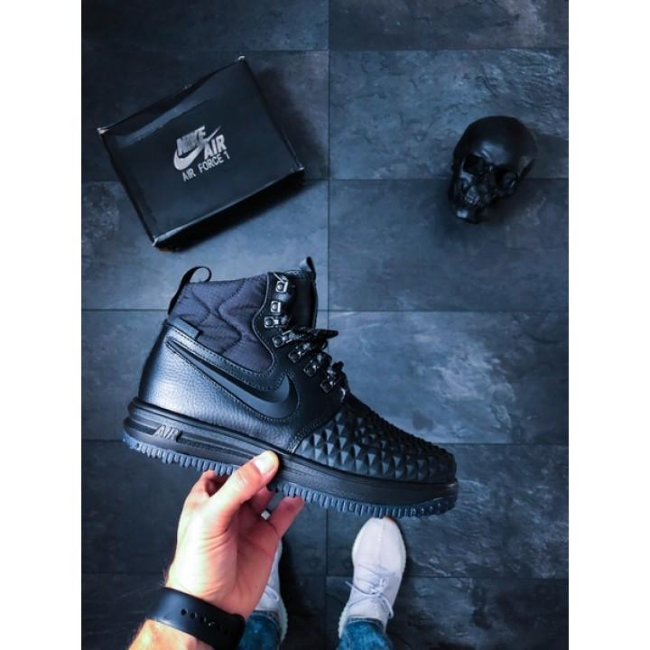 Мужские кроссовки Nike Lunar Force 1 Duckboot '17 Black/ Black-Anthracite