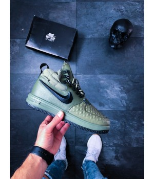 Мужские кроссовки Nike Lunar Force 1 Duckboot '17 (Medium Olive / Black – Wolf Grey)
