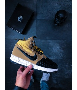 Мужские кроссовки Nike Lunar Force 1 Duckboot '17 (Metallic Gold/Black-Light Bone)