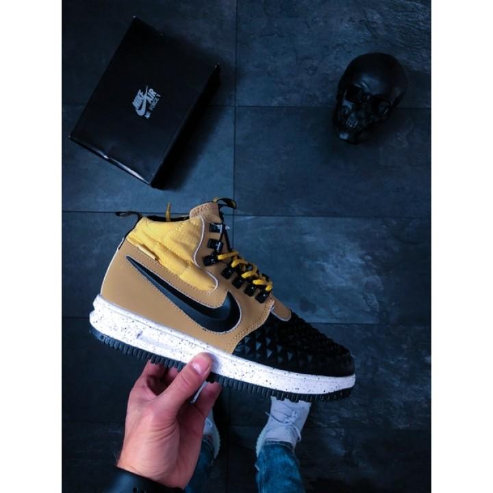 Мужские кроссовки Nike Lunar Force 1 Duckboot '17 (Metallic Gold/Black-Light Bone)
