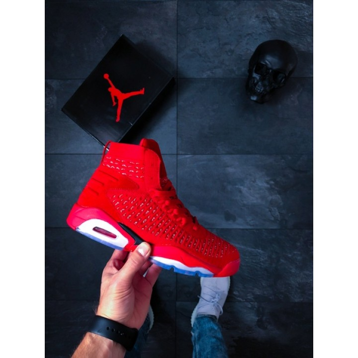 Мужские кроссовки Nike Jordan Flyknit Elevation 23 (GS) (University Red / Black)