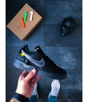 Мужские кроссовки Nike x Off-White Air Force 1 Low Black