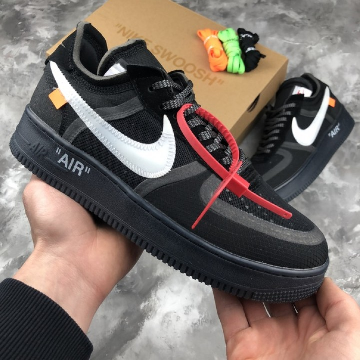 Мужские кроссовки Nike Air Force X Off-White Black