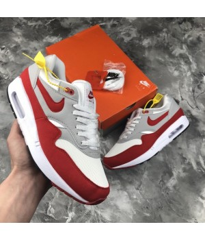 Мужские кроссовки Nike Air MAx 1 Anniversary White\Red
