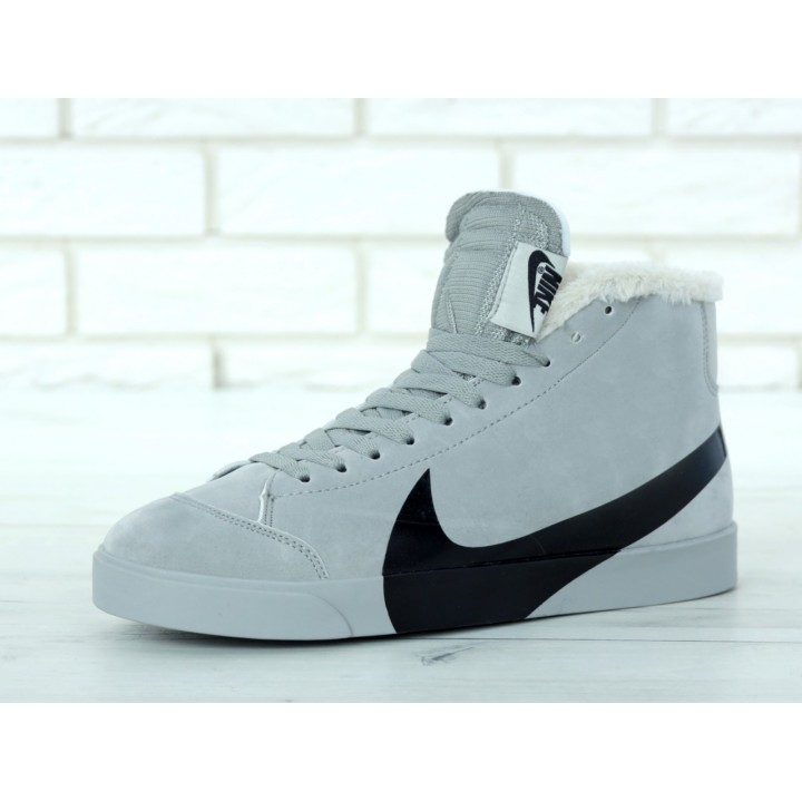Мужские кроссовки Nike Blazer Winter Grey