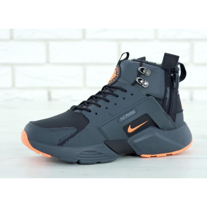 Мужские кроссовки Nike Huarache X Acronym City Winter Black/Orange