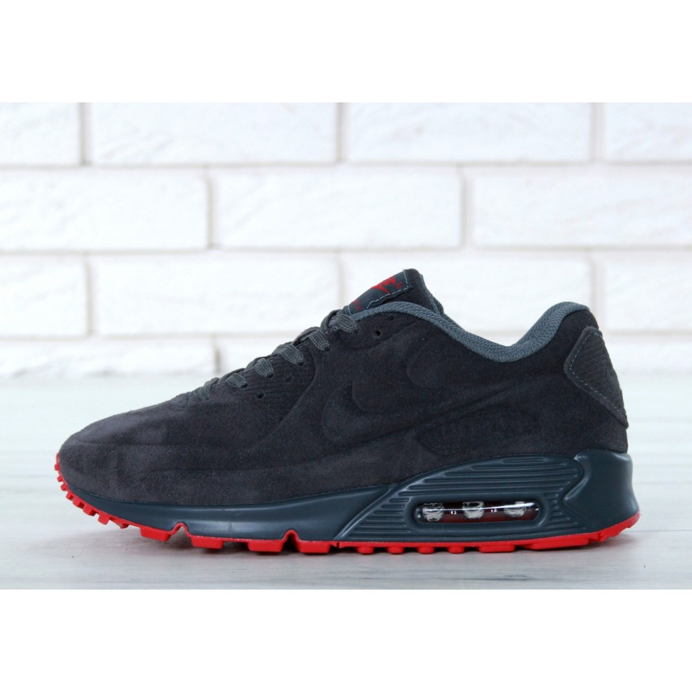 a3745bbe Мужские кроссовки Nike Air Max 90 VT Grey/Red 11071 от бренда Nike ...