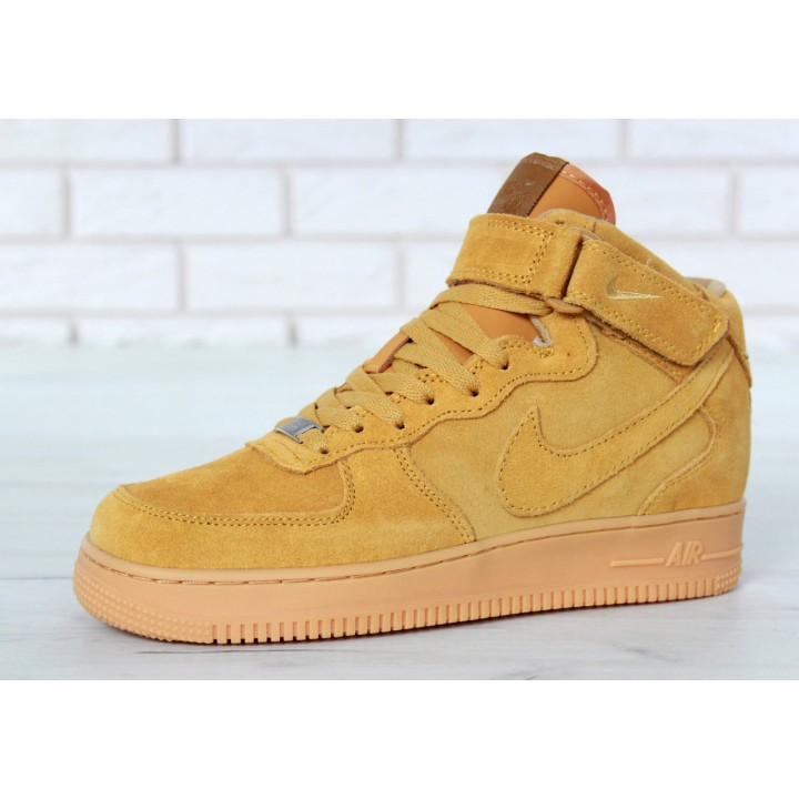 Мужские кроссовки Nike Air Force Winter Yellow