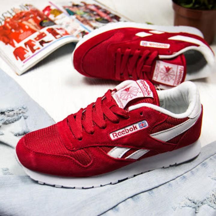 Женские кроссовки Reebok Сlassic Red/White