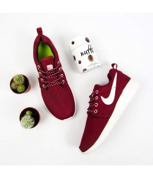 Кроссовки Nike Roshe Run Burgundy/White
